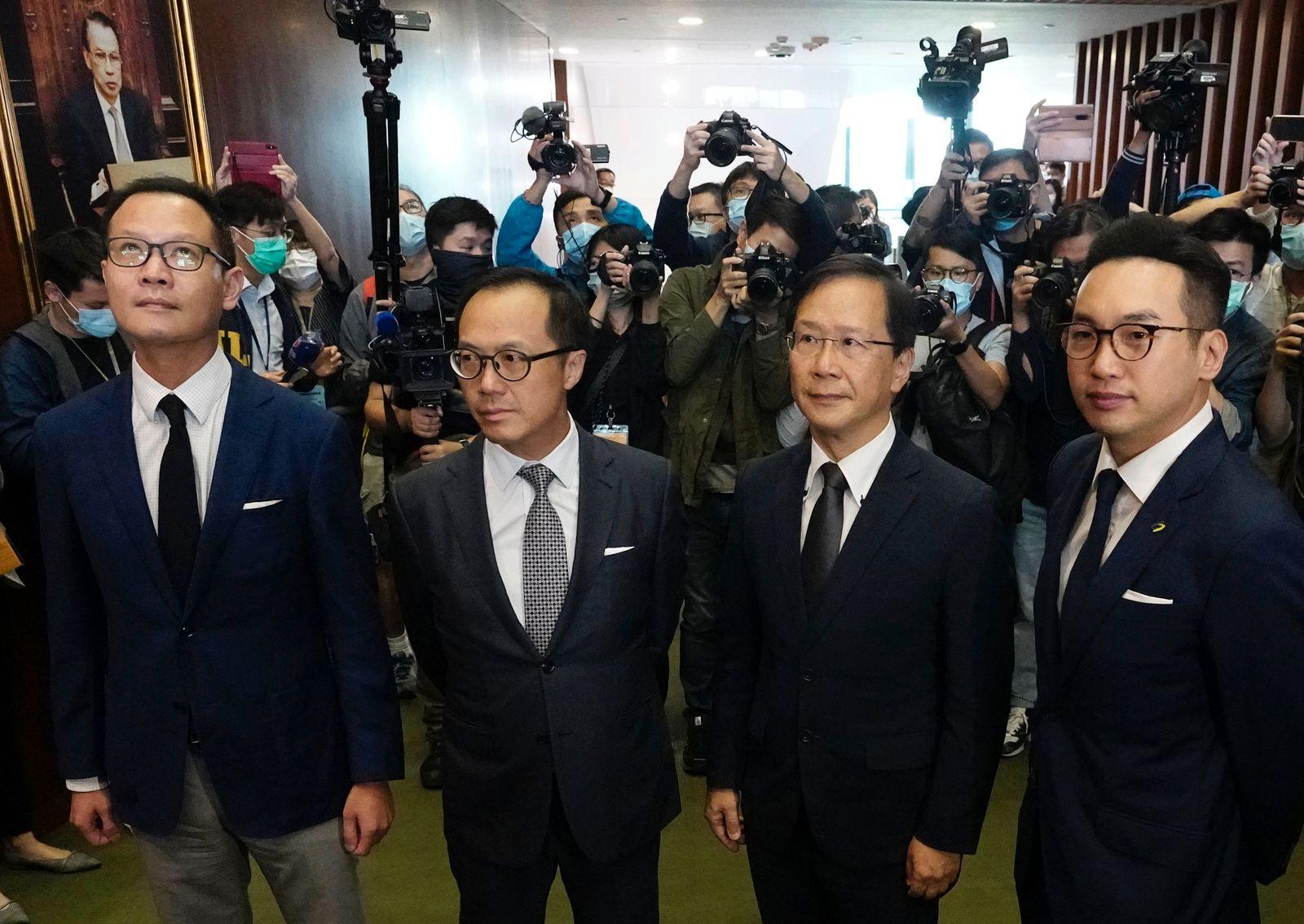 Carrie Lam, Dennis Kwok, Kenneth Leung, Kwok Ka-ki, Alvin Yeung