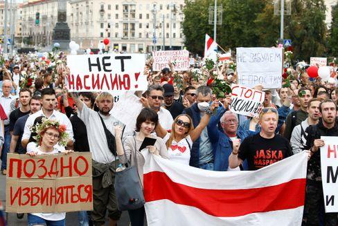 Die Demonstrationen in Minsk reißen nicht ab