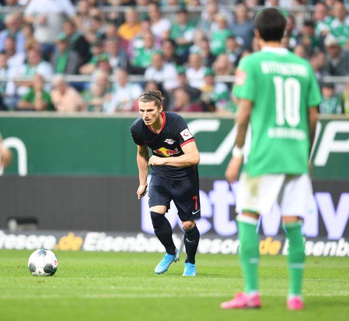 Marcel Sabitzer traf in dieser Saison gegen Werder Bremen per Freistoß