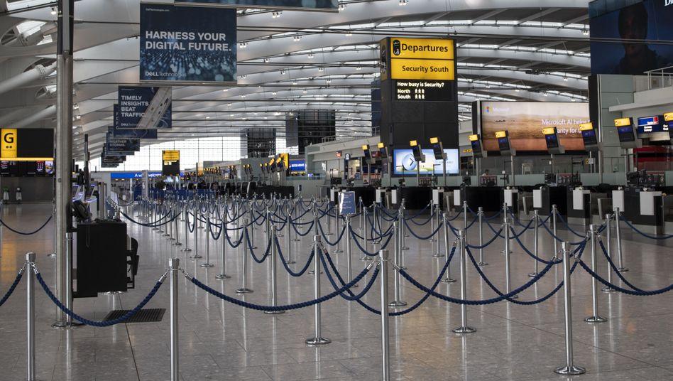 Leeres Terminal in London-Heathrow: Piloten von British Airways streiken den zweiten Tag