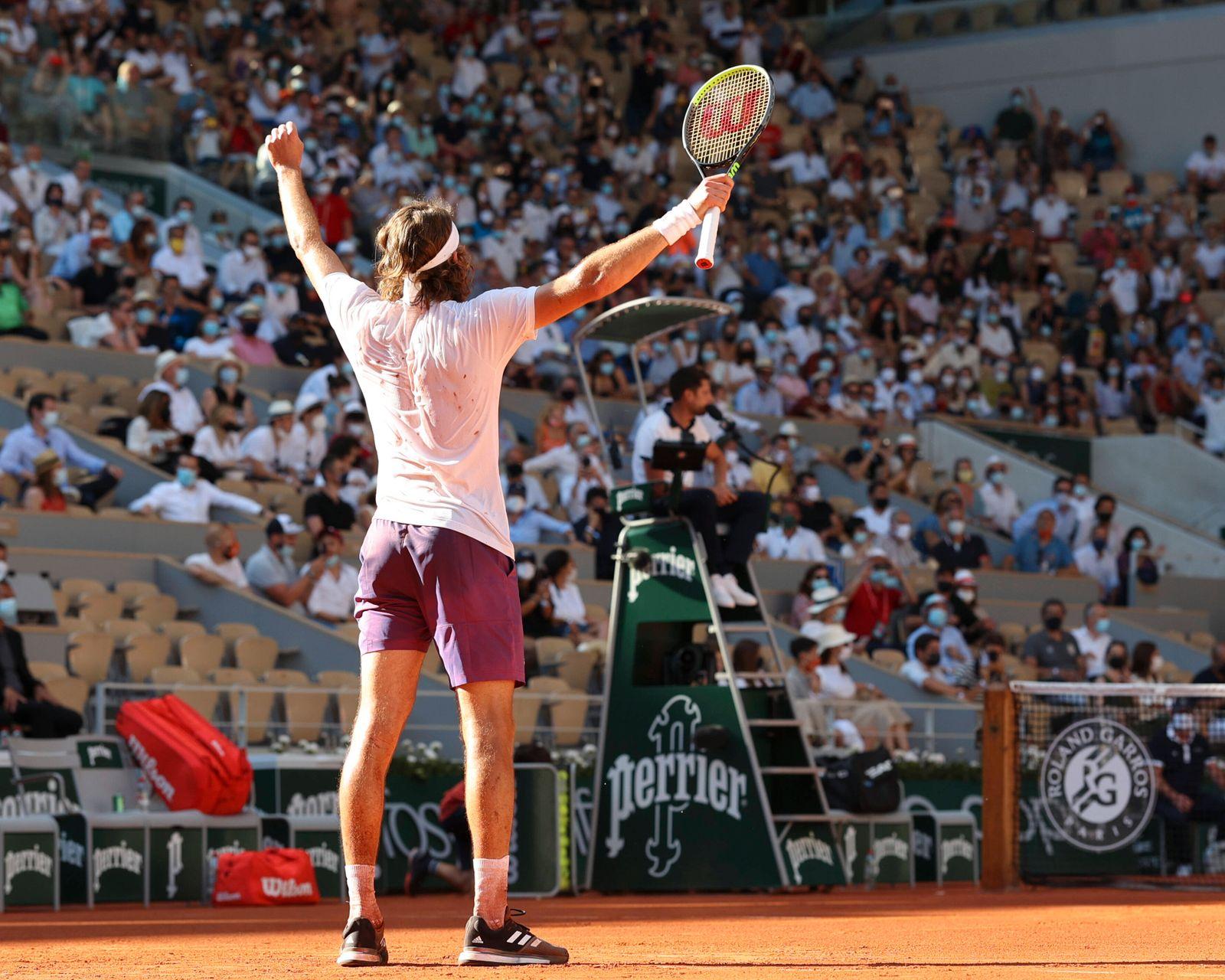 Stefanos Tsitsipas Tennis - French Open 2021 - Grand Slam - Roland Garros - Paris - - France - 11 June 2021. *** Stefano