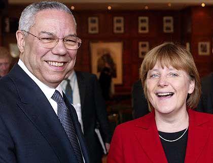 Powell und Merkel: 30 Minuten Audienz für die CDU-Chefin