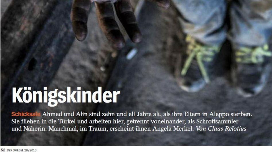 """Relotius-Text """"Königskinder"""" vom 9. Juli 2016 im SPIEGEL"""