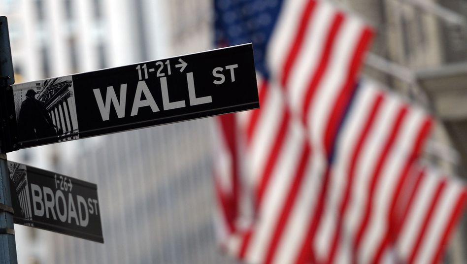 Schild an der New Yorker Wall Street