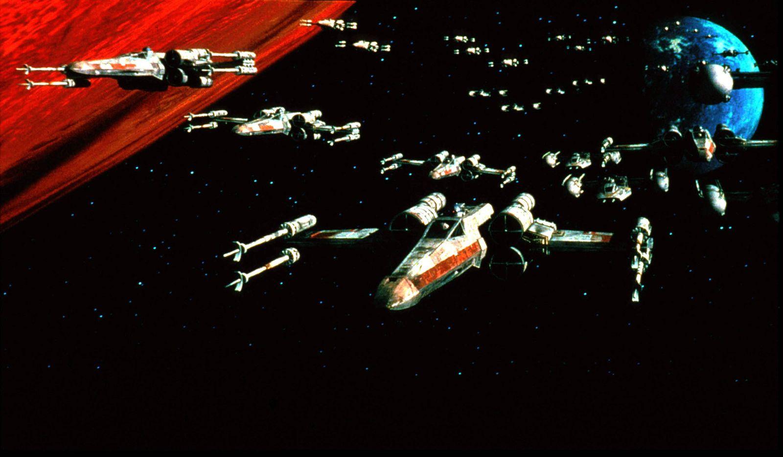 EINMALIGE VERWENDUNG Star Wars/ Todesstern/ X-Wings