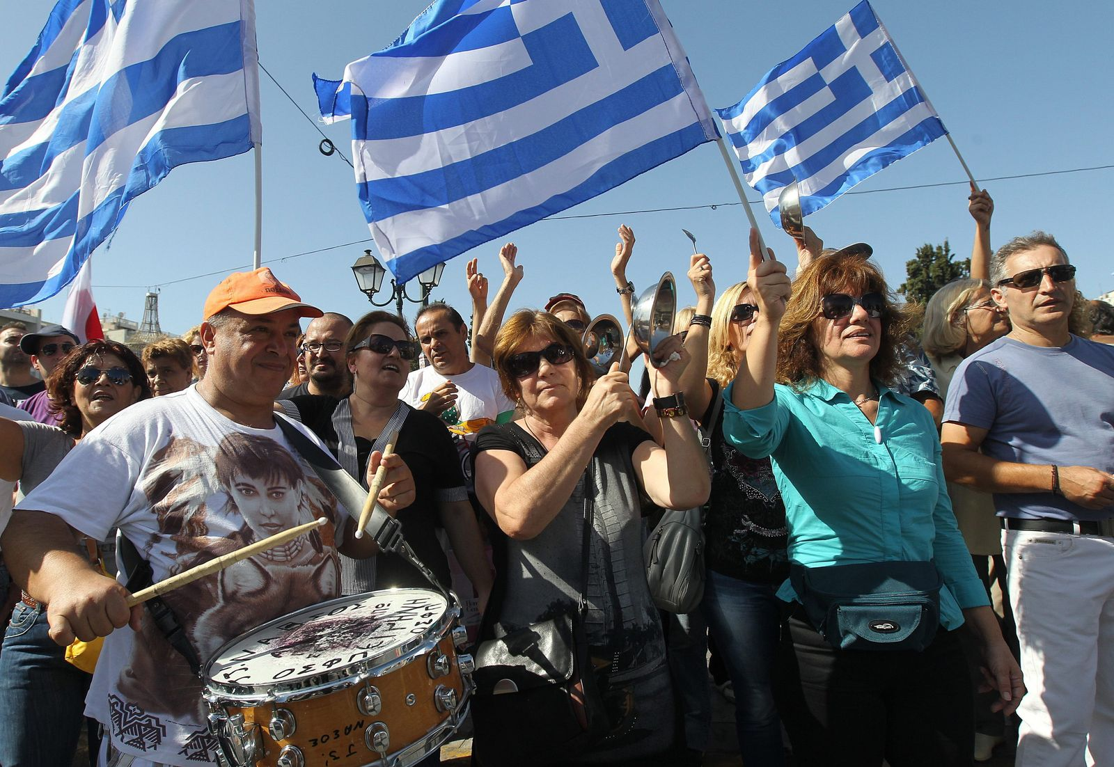 Griechenland / Demonstration Sparpolitik