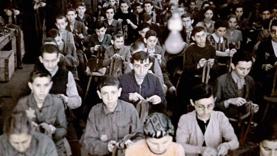 Jüdische Arbeiter im Ghetto Lodz um 1941