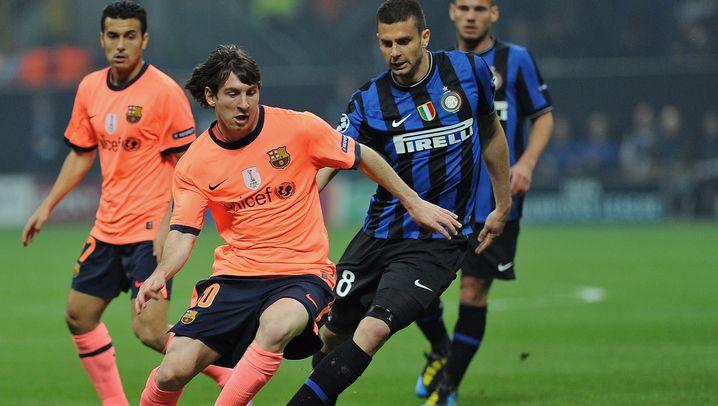 Halbfinale: Messi ohne Zauber, Milito losgelöst