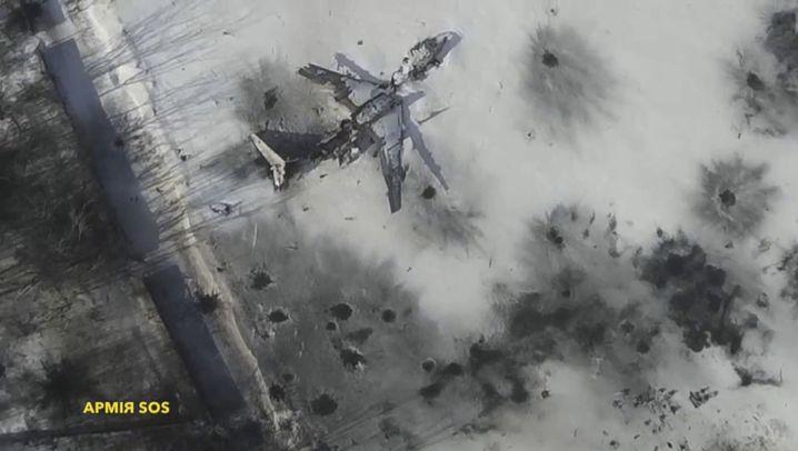Flughafen von Donezk: Tower in Trümmern