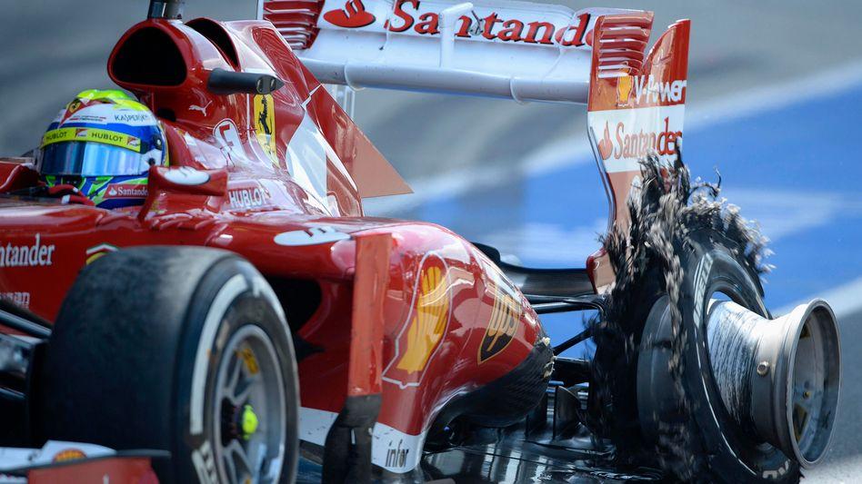 Formel-1-Pilot Massa: Reifenplatzer in Silverstone