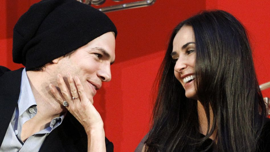 Ashton Kutcher und Demi Moore im Jahr 2010