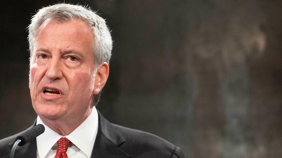 New Yorks Bürgermeister Bill de Blasio sieht im September den »Schlüsselpunkt der Erholung« (Archivbild)