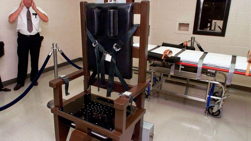 """Elektrischer Stuhl in Nashville, Tennessee (Archivbild): """"Nicht verfassungsgemäß, aber dennoch weniger schmerzhaft"""""""