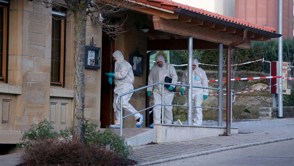 Kriminaltechniker am Tatort in Rot am See