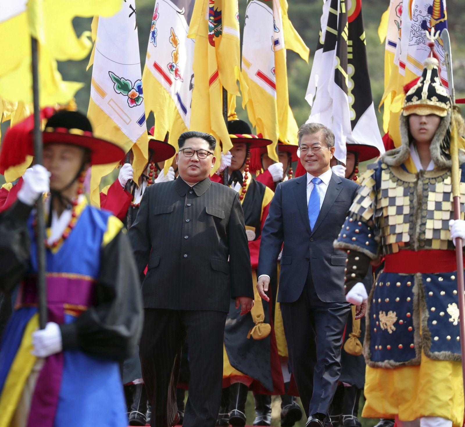 Korea Gipfel/ honor guard