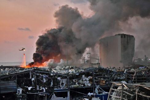 Blick auf Beirut nach den Explosionen