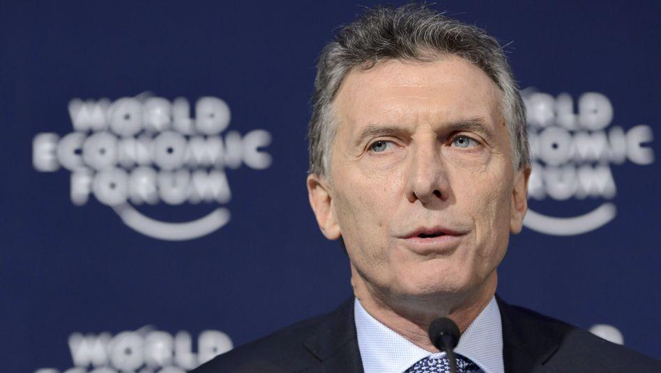 Argentiniens Präsident Macri: Treibt Einigung mit den Investoren voran