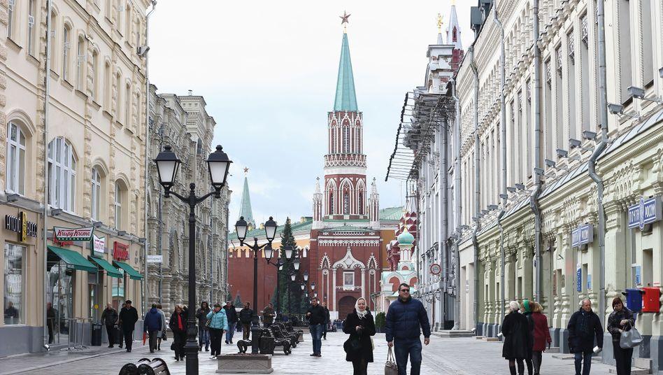 """Straßenszene in Moskau (Oktober 2013): """"Mangel an Investitionen"""""""