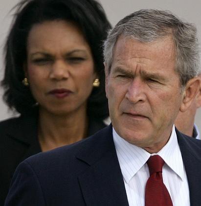 US-Präsident Bush, Außenministerin Rice: Kühner Traum vom demokratischen Nahen Osten