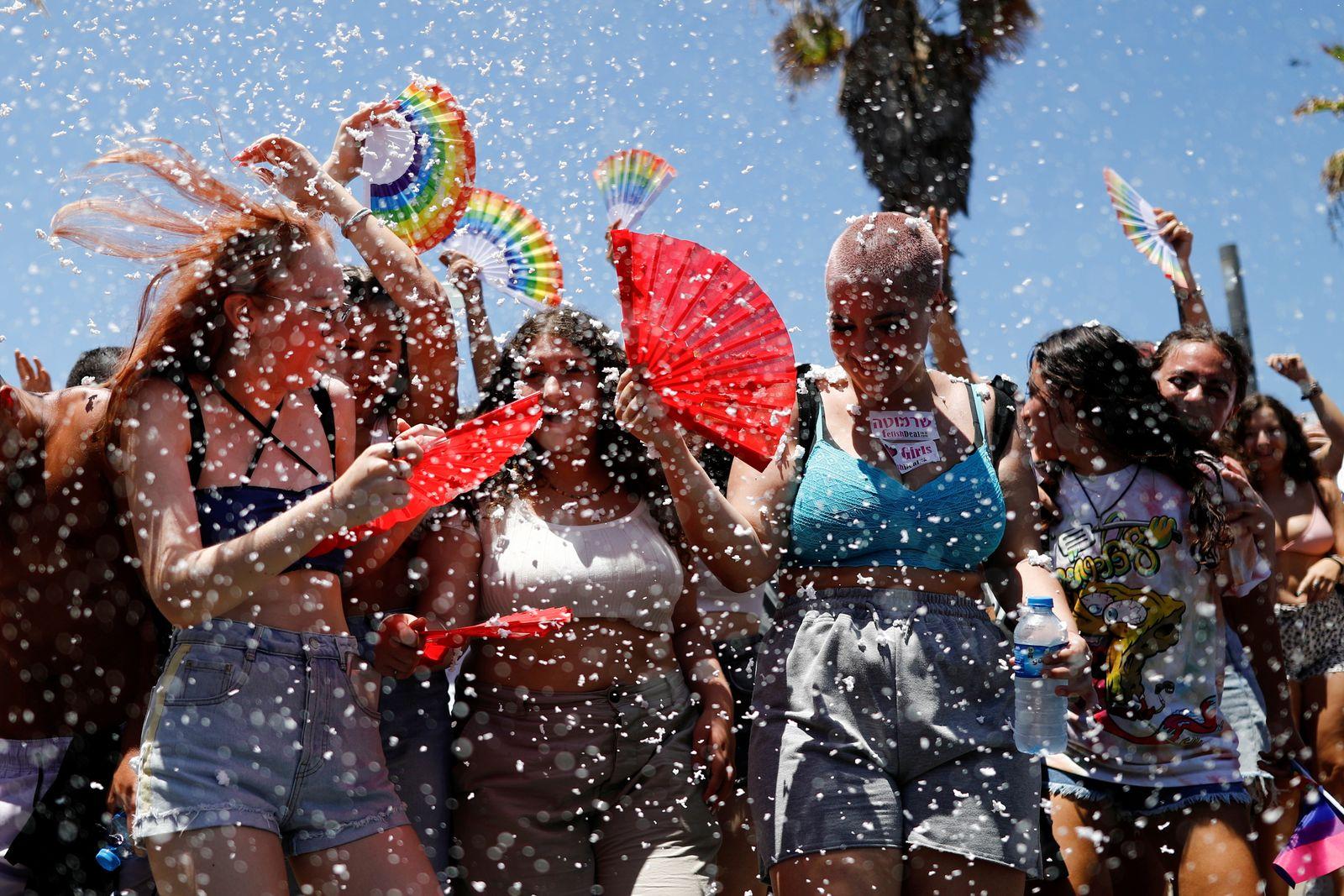Gay pride parade in Tel Aviv