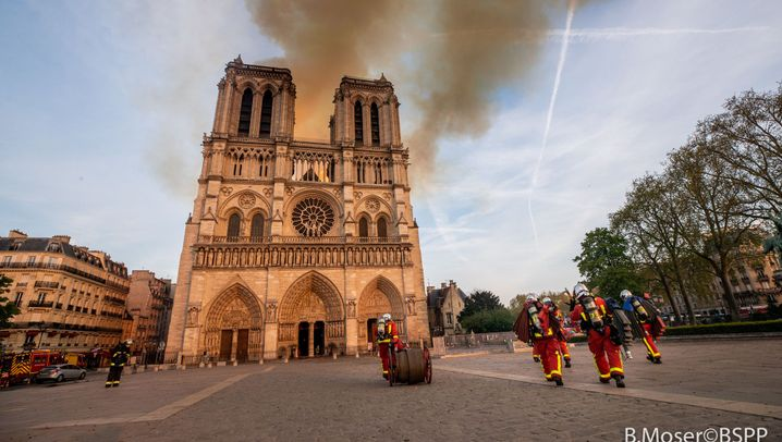 Brand in Notre-Dame: Einsatz an der Kathedrale