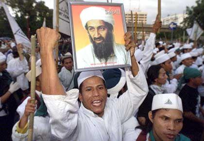Pro-Taliban-Demonstration vor der US-Botschaft in Jakarta