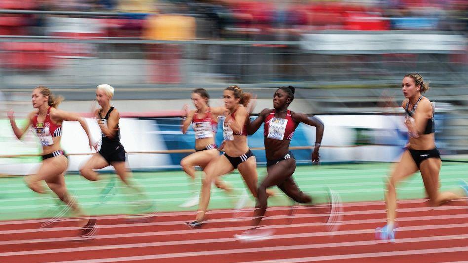 Lückenkemper als Siegerin beim 100-Meter-Finale der Deutschen Meisterschaften im Juli in Nürnberg