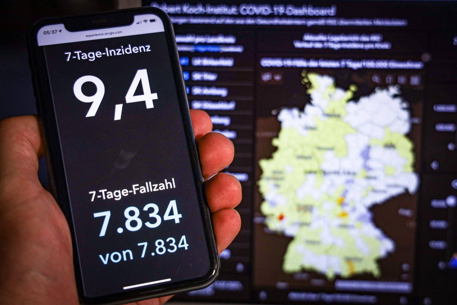 Coronavirus in Deutschland - Covid-19-Dashboard des Robert Koch-Institut 17.07.2021: Robert Koch-Institut: 7-Tage-Inzid
