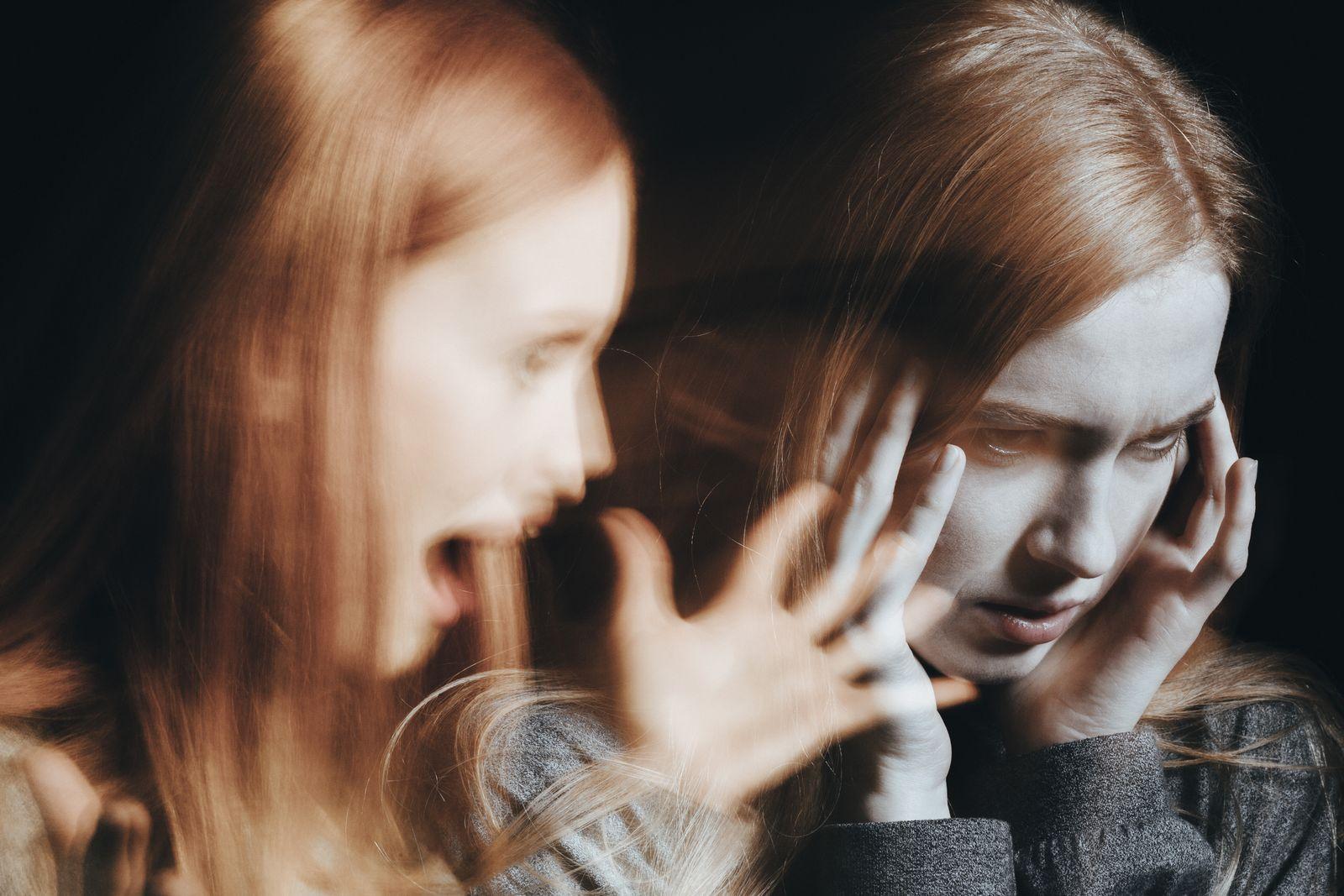 EINMALIGE VERWENDUNG Schizophrenie / Symbol