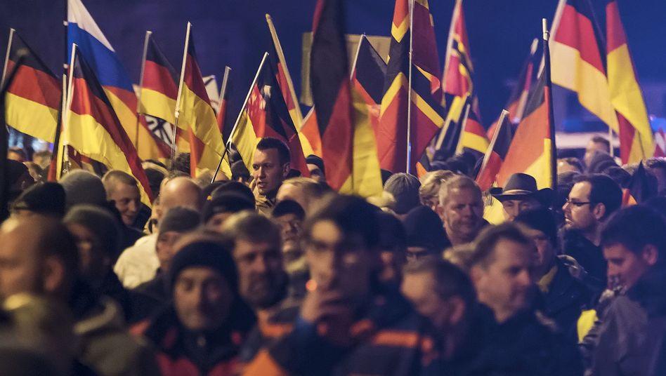 AfD-Anhänger in Erfurt