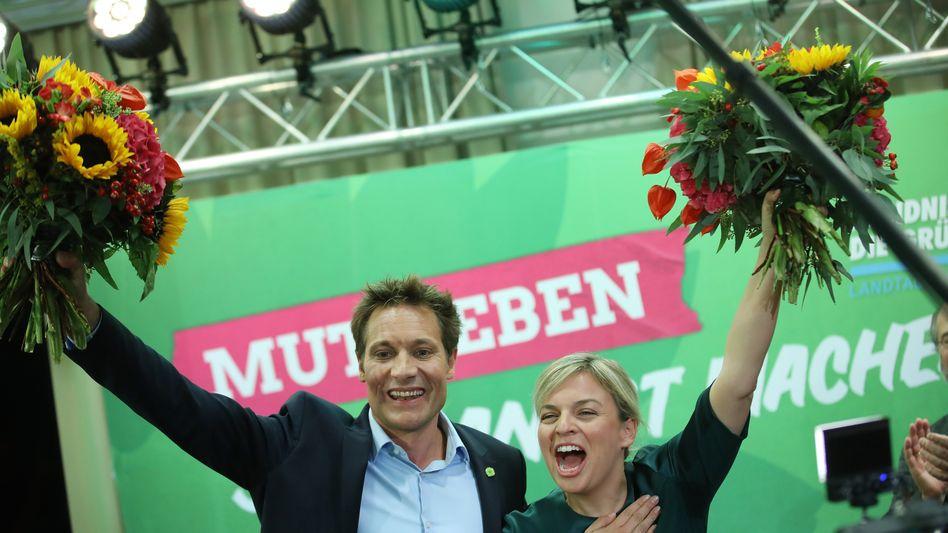 Katharina Schulze und Ludwig Hartmann von den Grünen