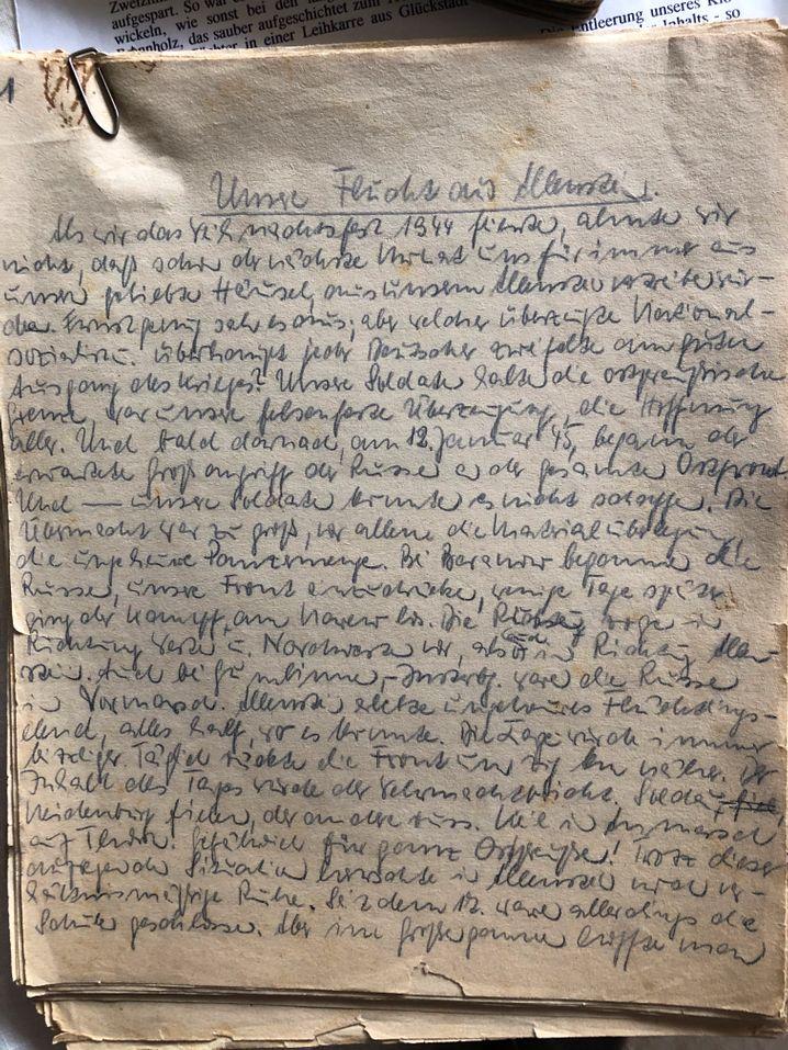 Fluchttagebuch von Annemarie Günther, Mai 1945