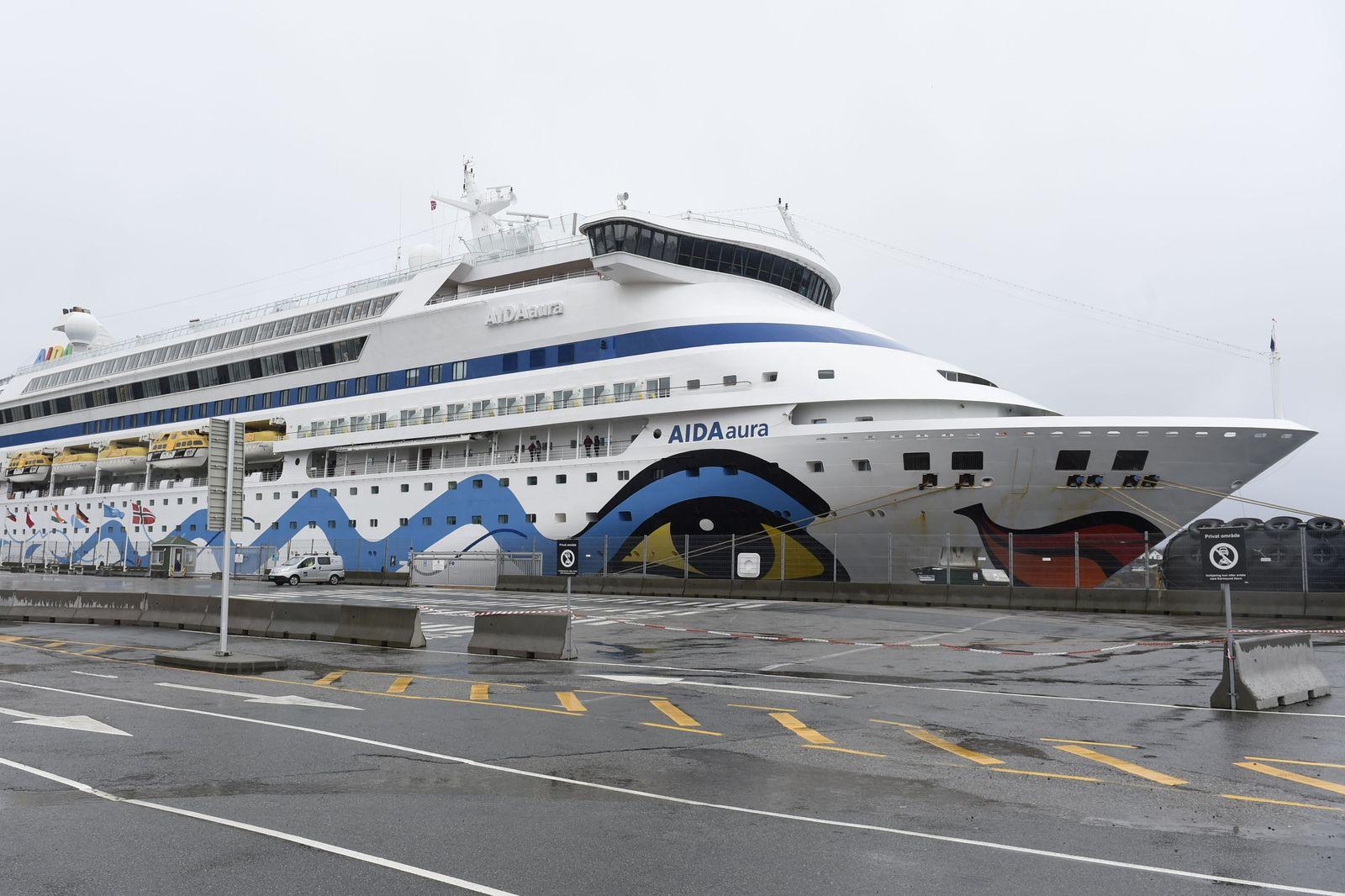 The German cruise ship Aida Aura in Haugesund, Norway - 03 Mar 2020