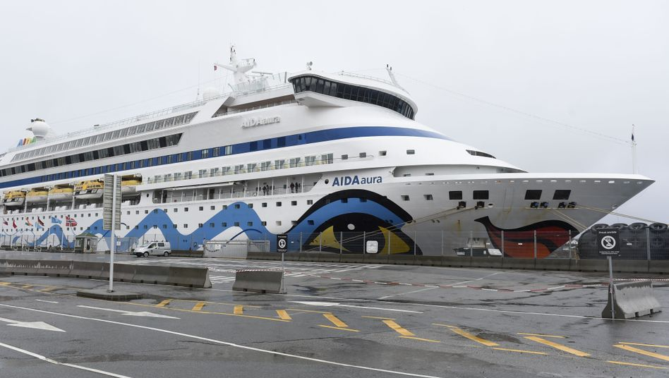 """Die """"Aida Aura"""" liegt im norwegischen Haugesund"""