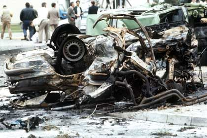 A US soldier and a civilian employee of the American military died in this RAF attack on the Rhein-Main Air Base in 1985.