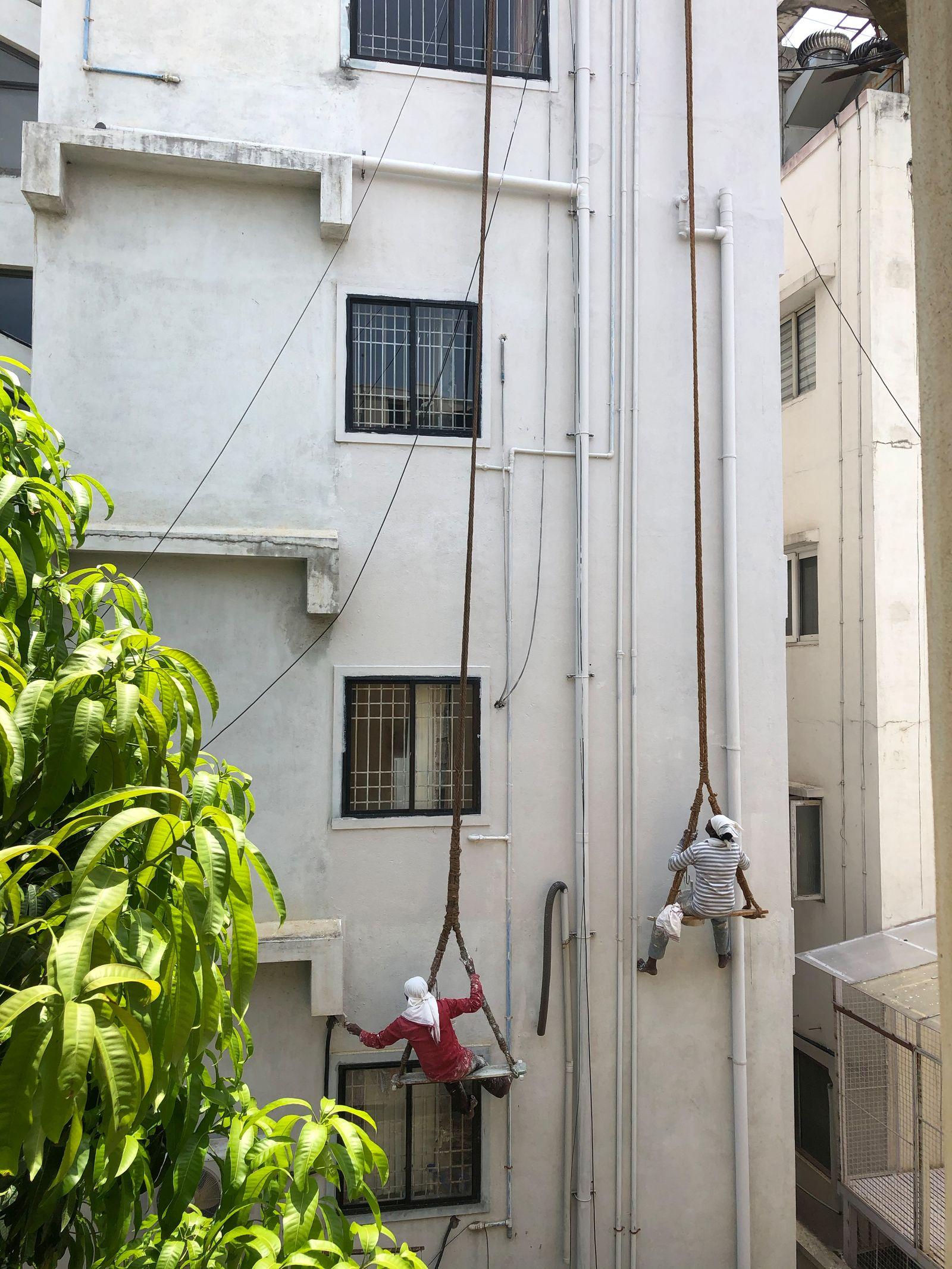 Bauarbeiter in Bangalore