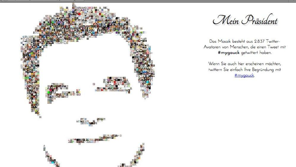 Netzpräsident: Gauck-Fans im Internet