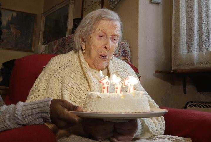Emma Morano an ihrem 117. Geburtstag
