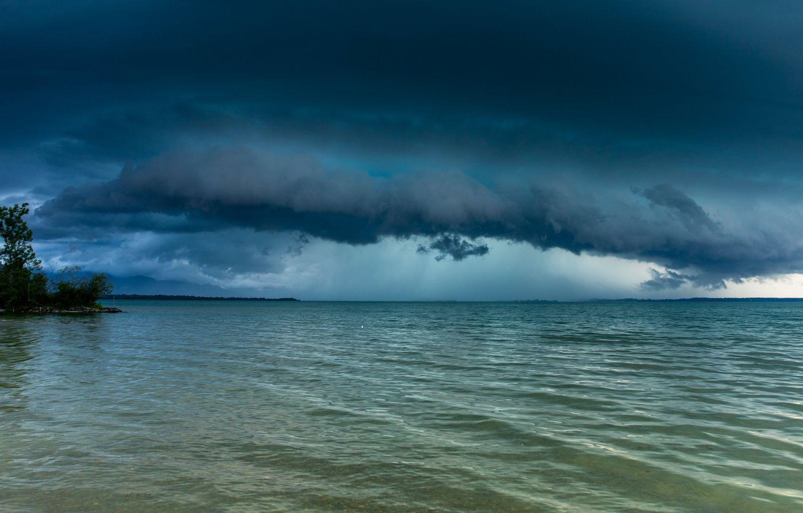 Unwetter am Chiemsee
