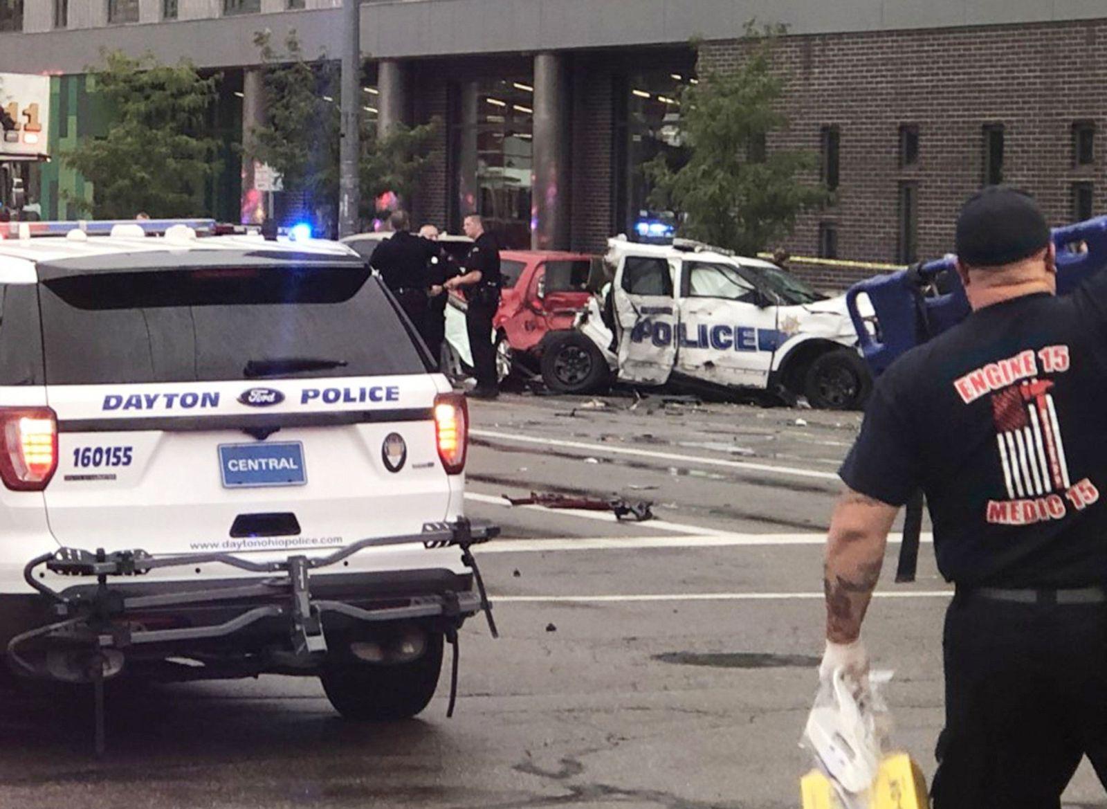 Dayton Unfall Polizeiauto
