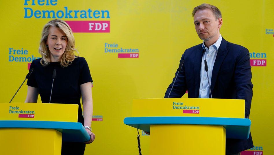 Designierte Generalsekretärin Linda Teuteberg und FDP-Chef Christian Lindner