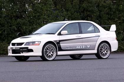 Mitsubishi Lancer Evolution MIEV: Per Elektromotoren auf 180 km/h