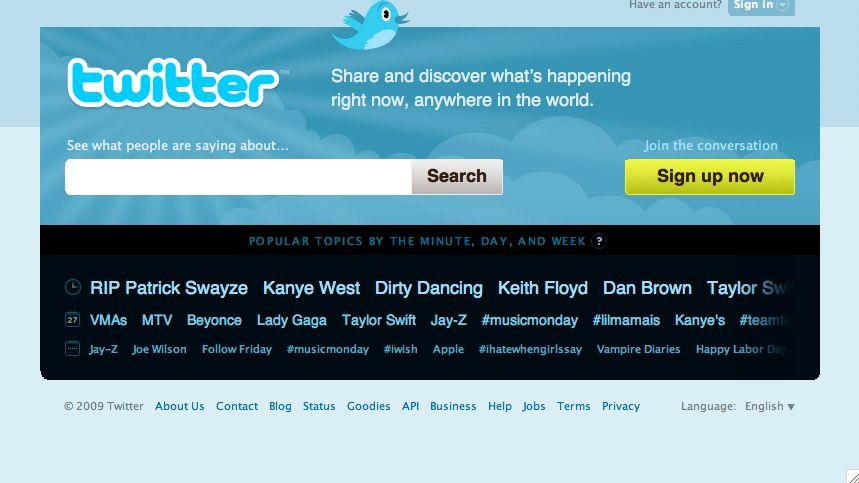 Logo des Kooperationspartners Twitter: Neue Suchfunktionen für das Echtzeit-Web