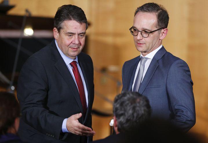 Sigmar Gabriel übergibt das Amt an Heiko Maas