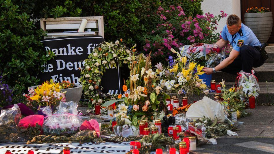 Blumen an Kohls Haus in Oggersheim