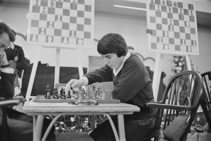 Nona Gaprindaschwili bei einem Spiel in London im Jahr 1964.
