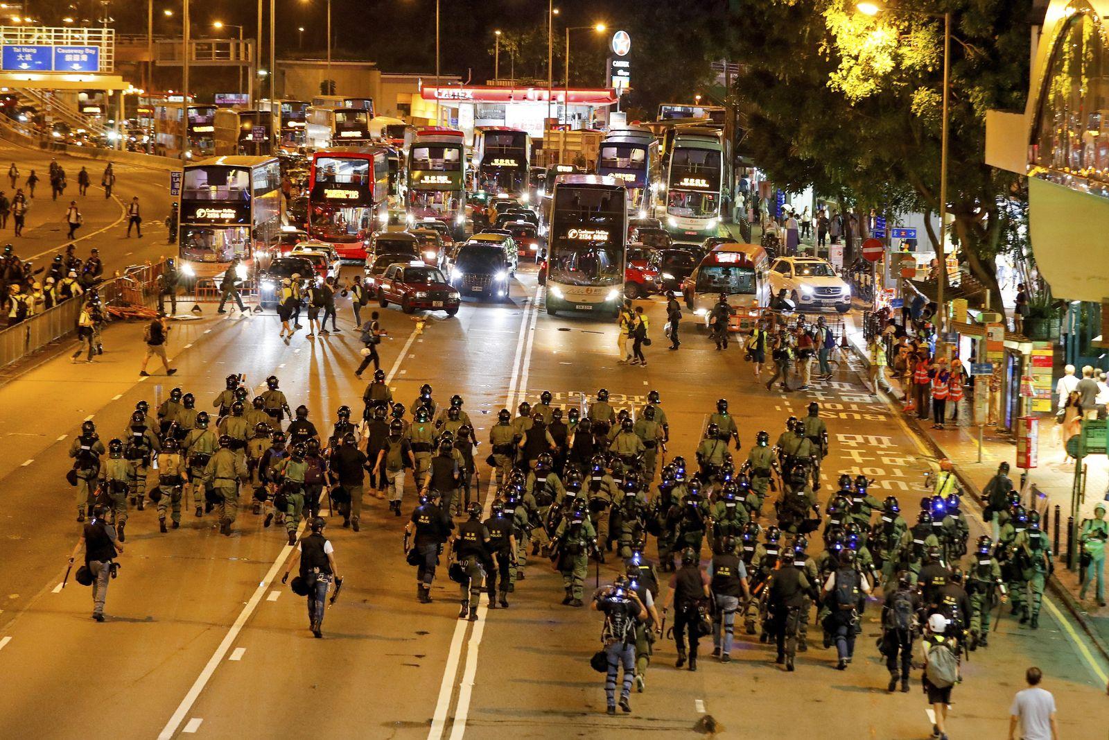Proteste in Hongkong/ August 2019