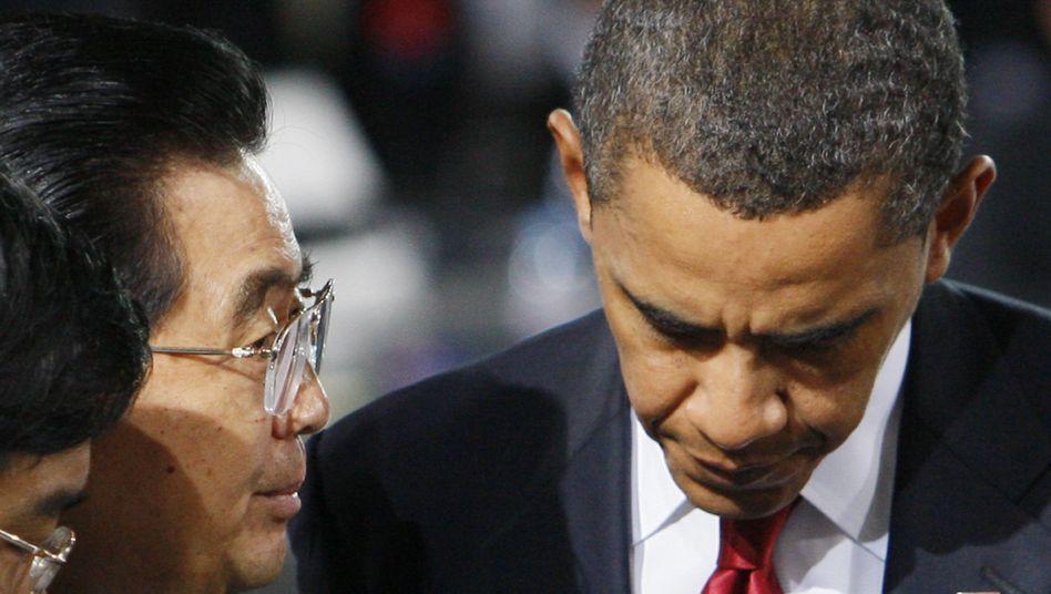 Präsidenten Hu, Obama (im September): Verbündet gegen die anderen?