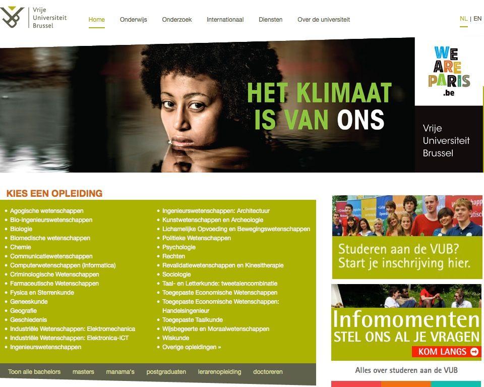 EINMALIGE VERWENDUNG Vrije Universiteit Brussel / VUB