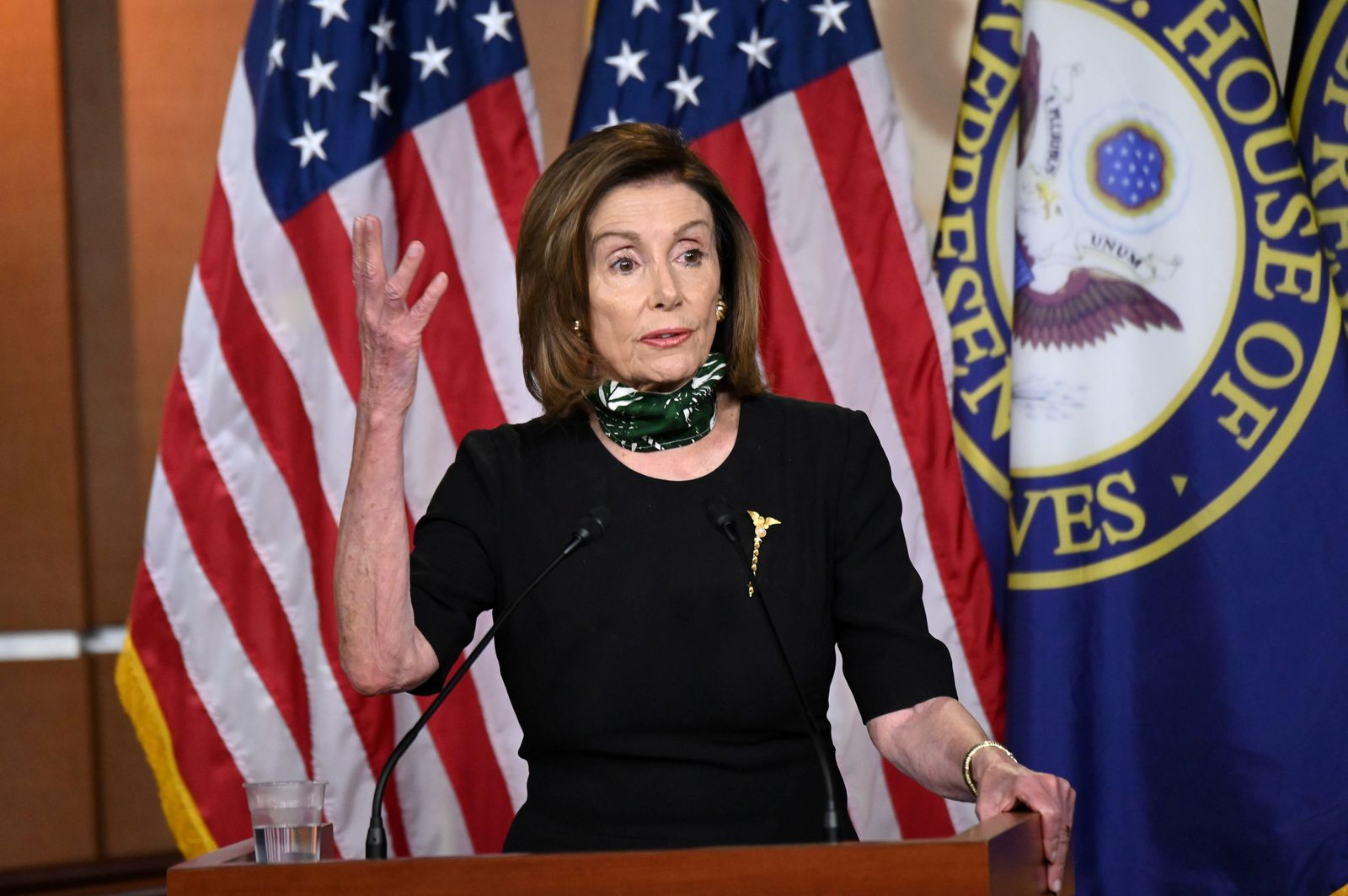 FILE PHOTO: House Speaker Pelosi holds her weekly news conference with Capitol Hill reporters in Washington